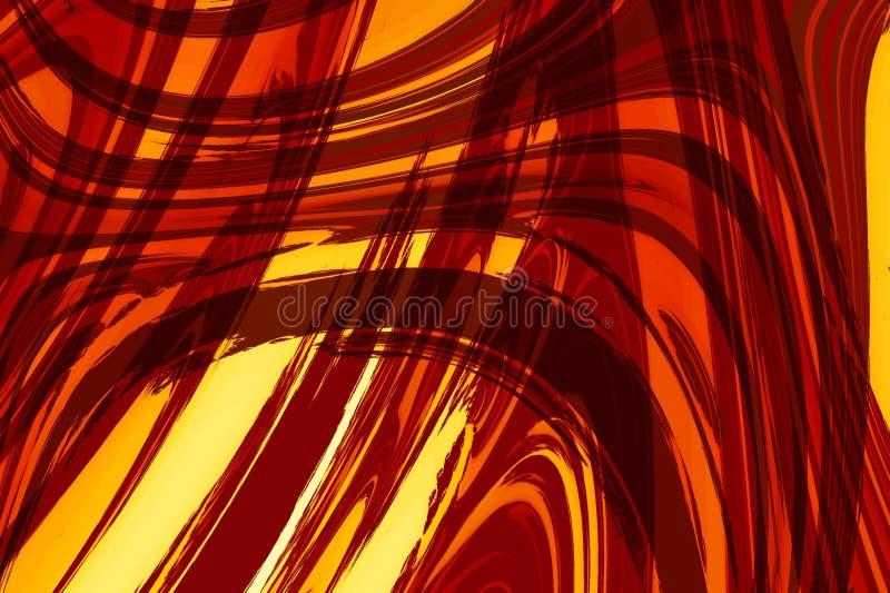 抽象棕色红色形状黄色 库存图片
