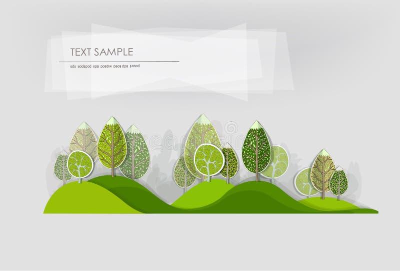 抽象森林,集合 库存例证