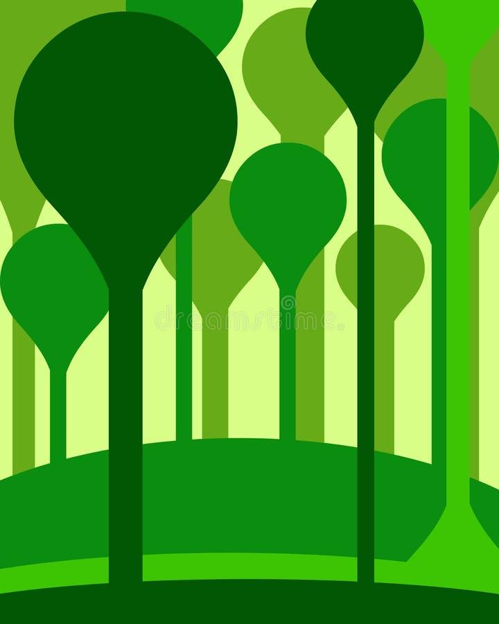 抽象森林 库存例证