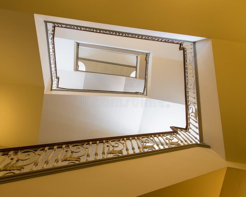 抽象楼梯绕 库存照片