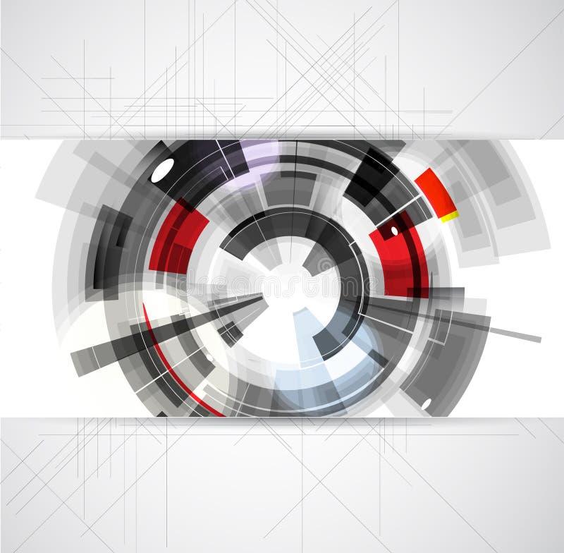 抽象概念性数字计算机技术企业backgro 皇族释放例证