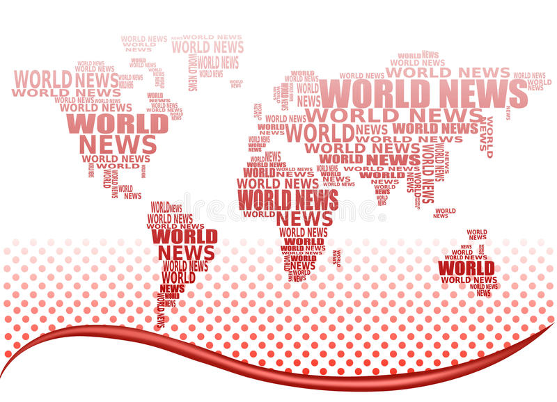 抽象概念映射新闻世界 库存例证