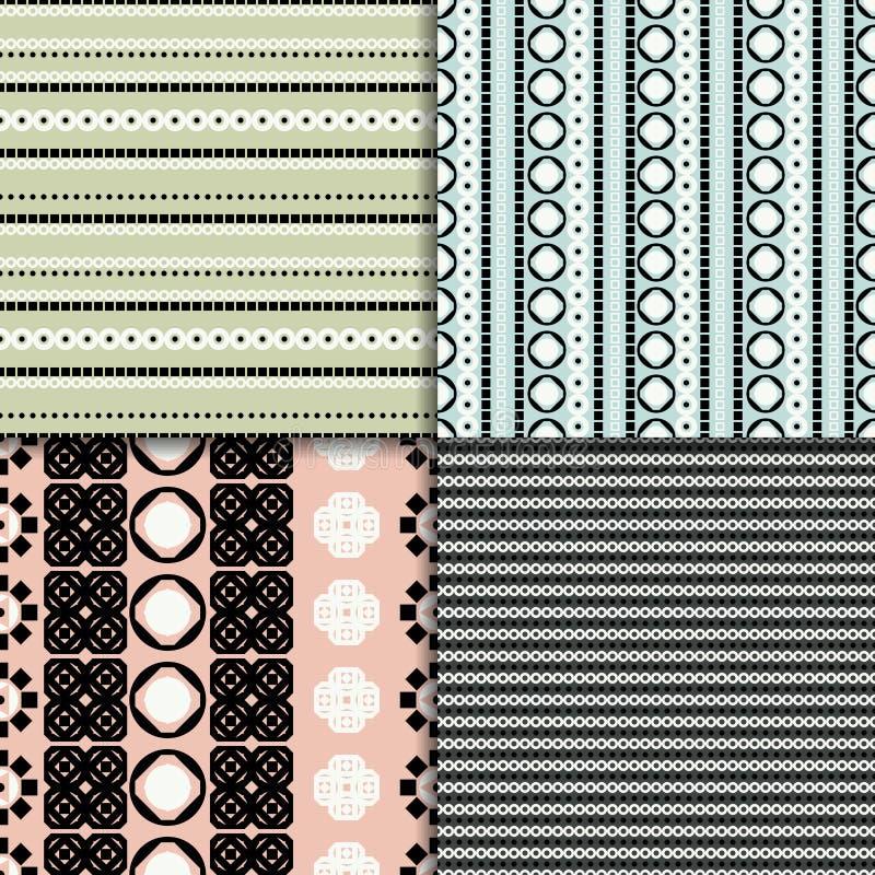 Download 抽象模式无缝的集 向量例证. 插画 包括有 设计, 圈子, 样式, 例证, 简单, 数据条, 形状, 布料 - 72355665