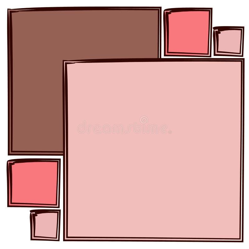 抽象模式粉红色正方形 向量例证