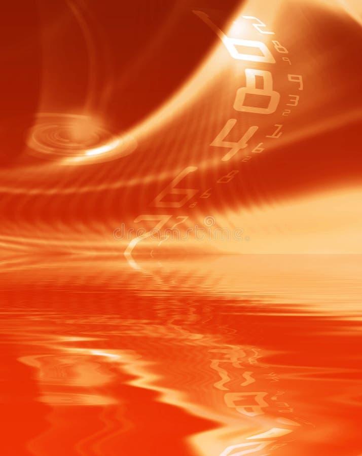 抽象模式红色 向量例证