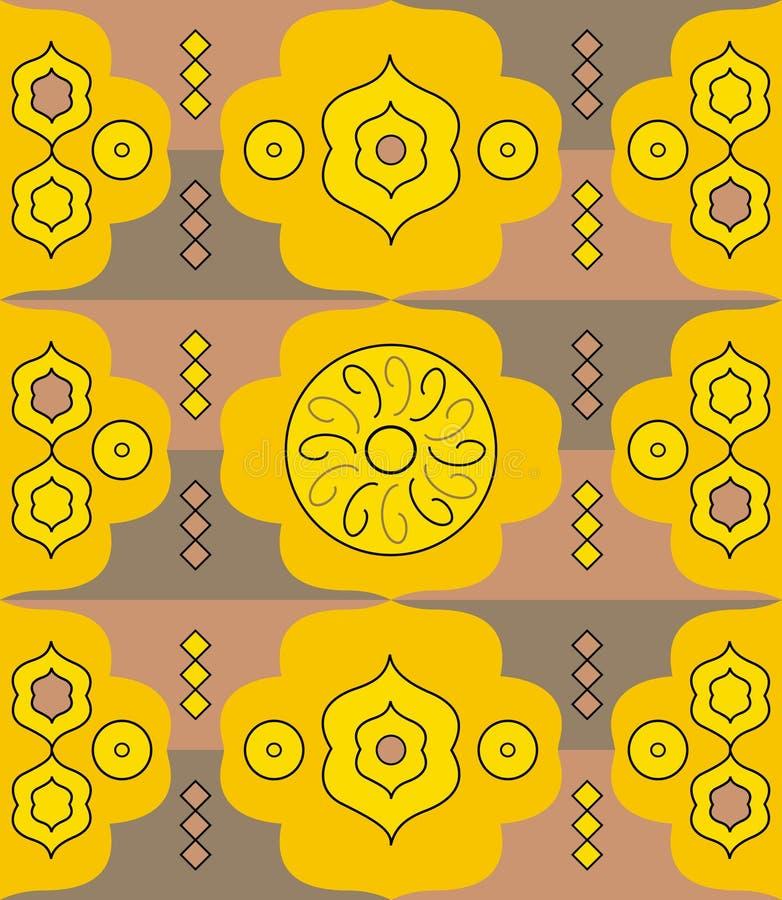 抽象模式黄色 向量例证