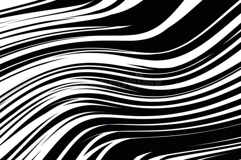 抽象模式 与波浪的纹理,曲线线 光学艺术的背景 黑白波浪的设计.图片
