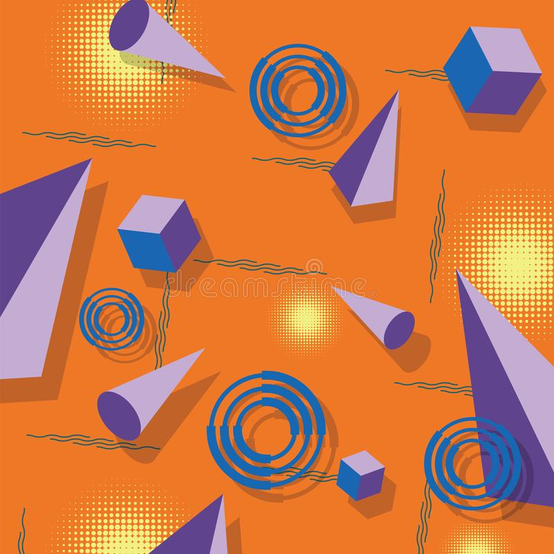 抽象模式 孟菲斯样式 免版税图库摄影