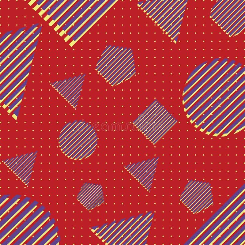 抽象模式 孟菲斯样式 图库摄影