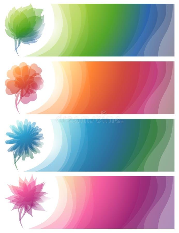 抽象横幅五颜六色的本质 库存例证