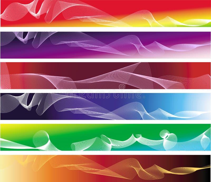 抽象横幅五颜六色的集六 皇族释放例证