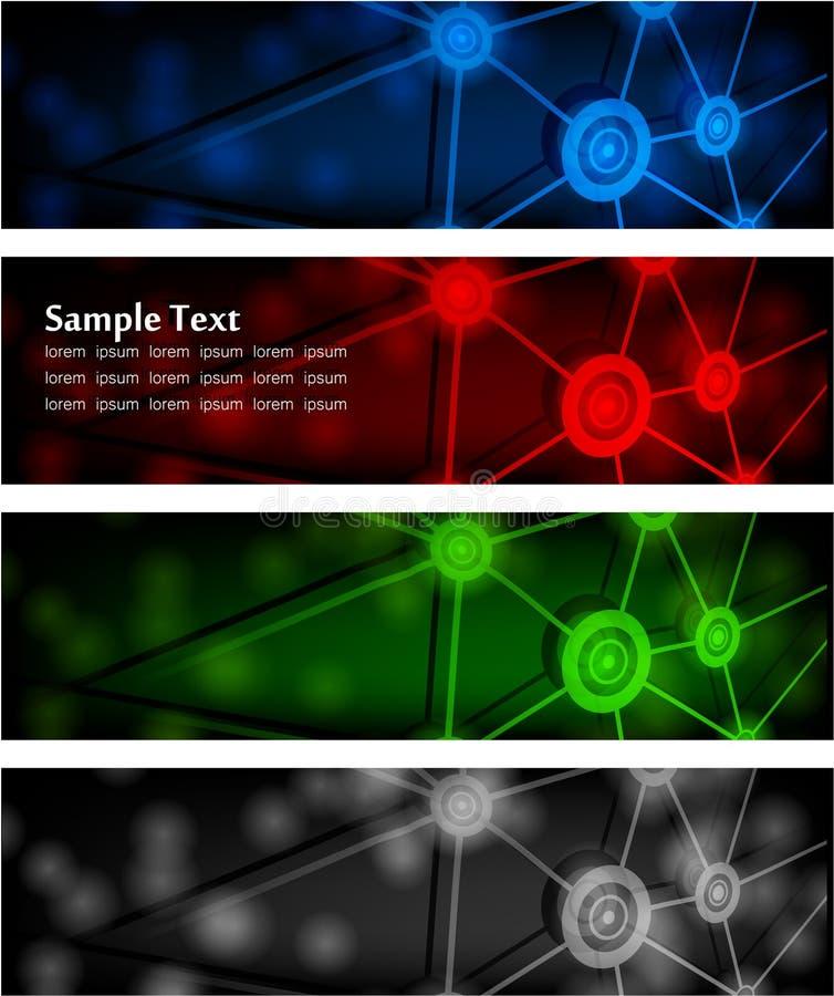 抽象横幅发光 向量例证