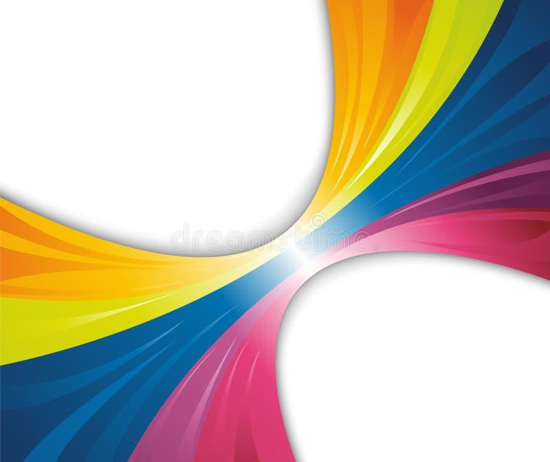 抽象横幅彩虹通知 向量例证