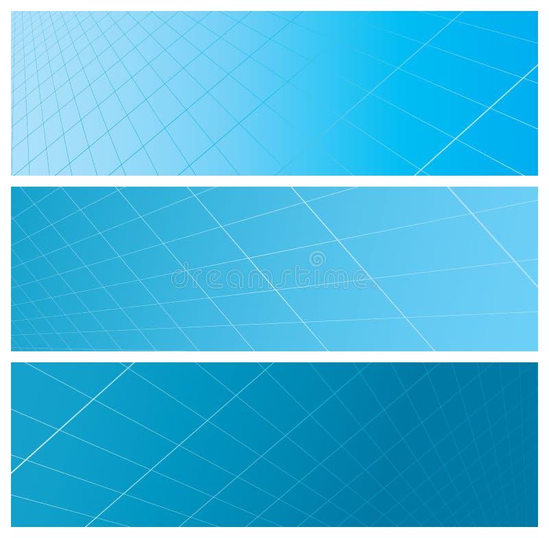 抽象横幅网格 向量例证