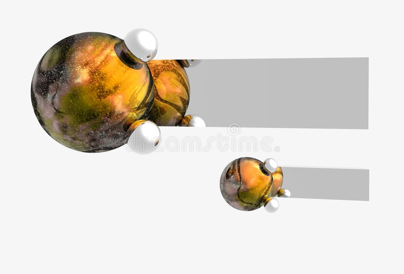 抽象横幅行星 向量例证