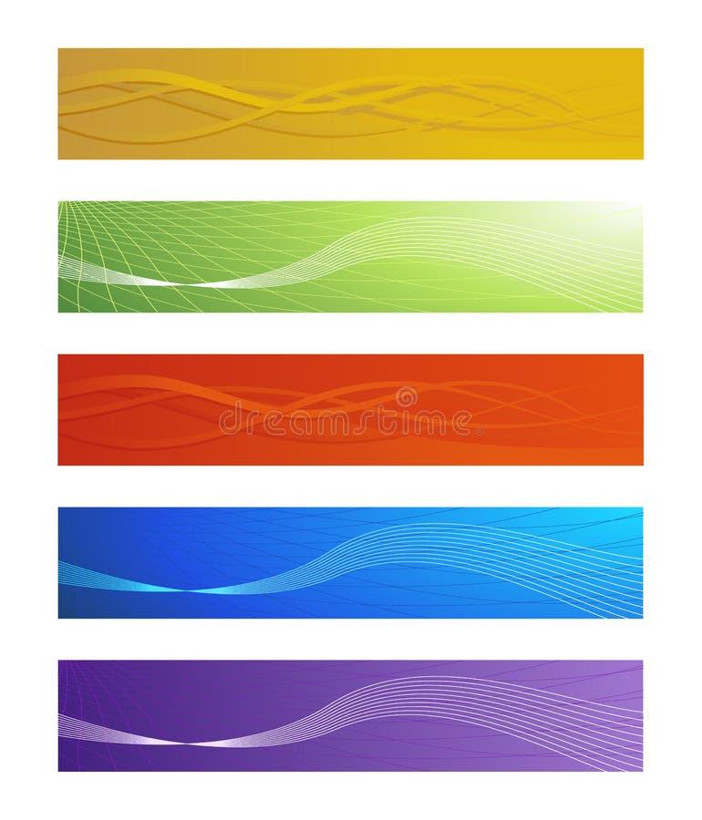 抽象横幅被设置的向量 向量例证