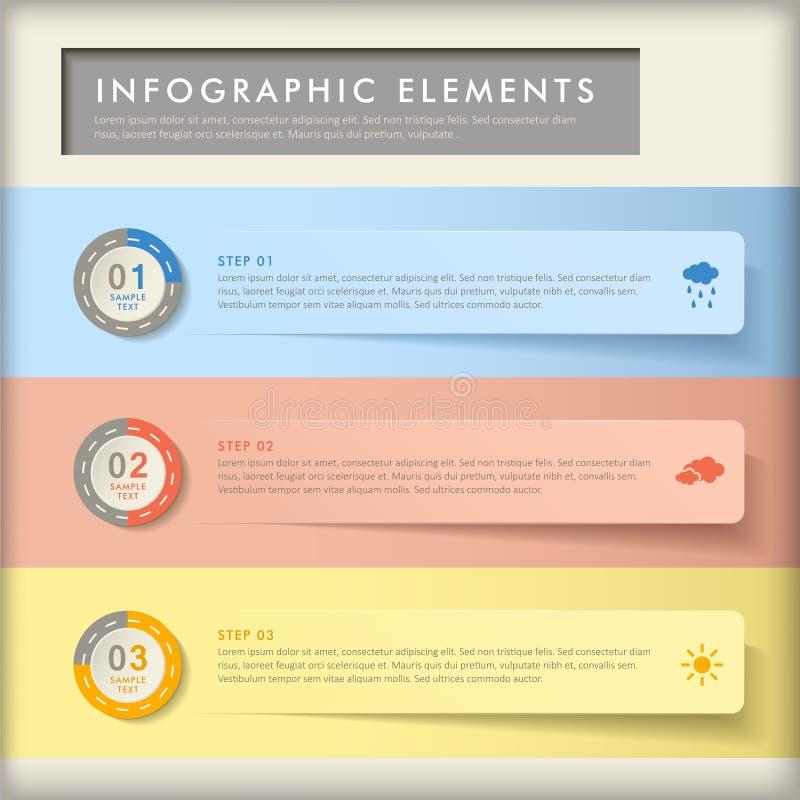 抽象横幅infographics 向量例证