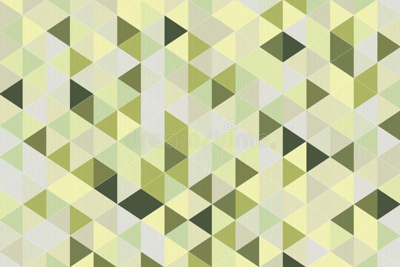 抽象橄榄绿多角形几何背景 3d翻译 向量例证