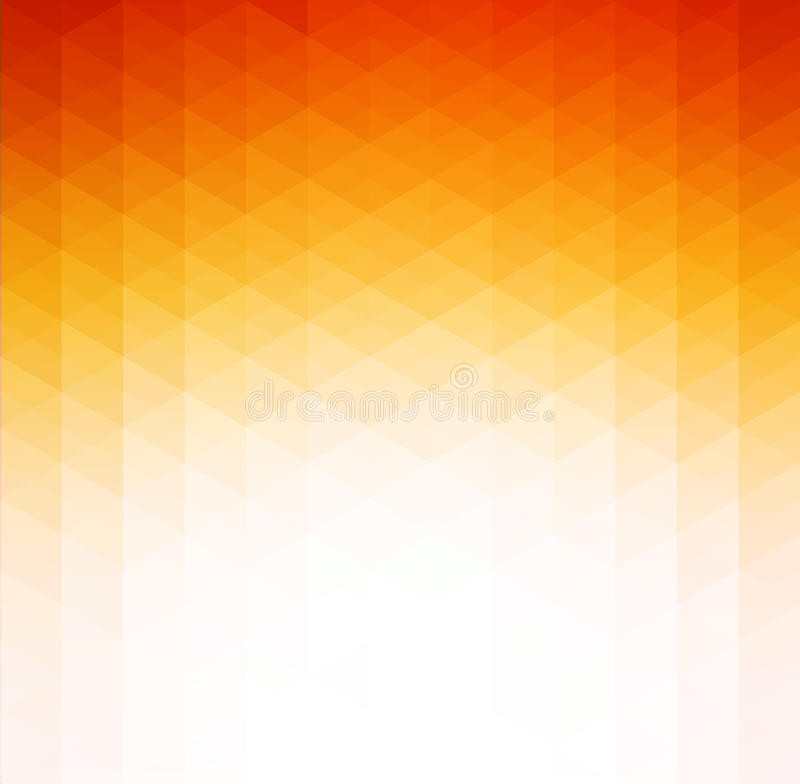 抽象橙色几何技术背景 向量例证