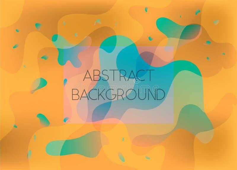 抽象橙色和绿色充满活力的背景 向量例证