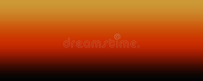 抽象橙色和黑和棕色技术背景 库存例证