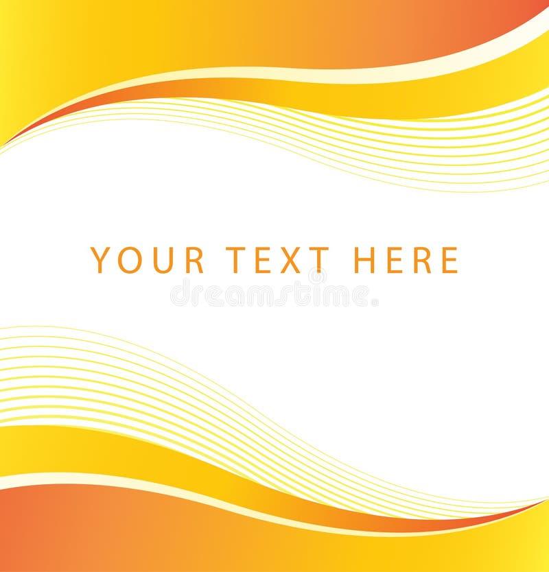 抽象橙色波浪边界背景 皇族释放例证
