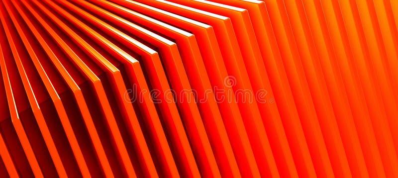抽象橙色金属样式背景 3d?? 库存图片