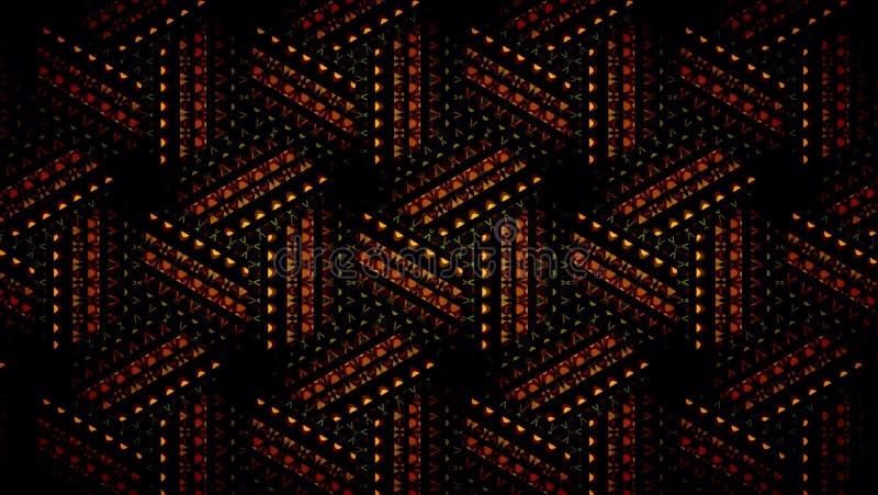 抽象橙色黑和绿色佯装的墙纸 免版税库存图片