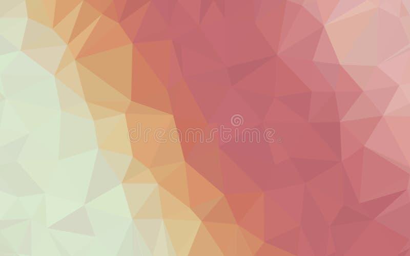 抽象橙黄红色多角形样式墙纸 免版税库存照片