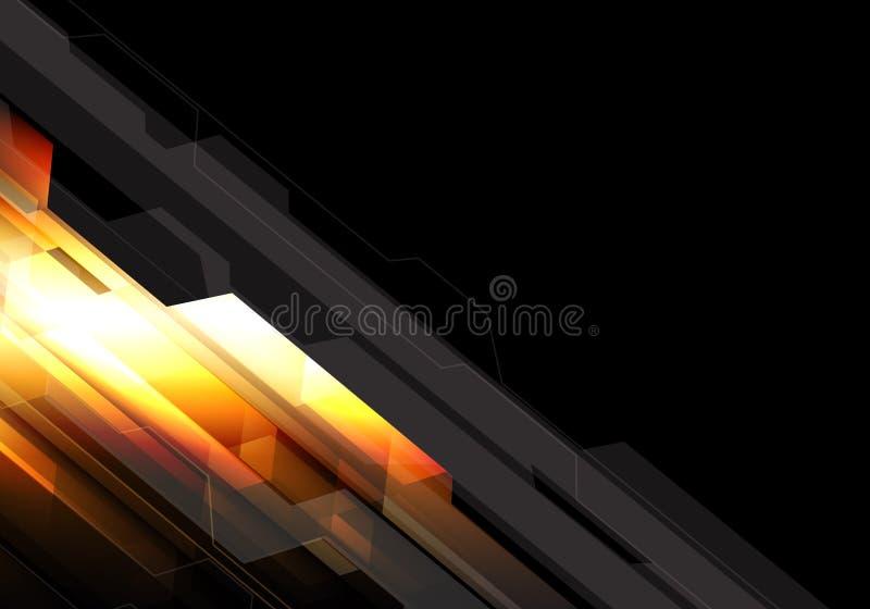 抽象橙黄轻的多角形技术设计现代未来派背景传染媒介 皇族释放例证