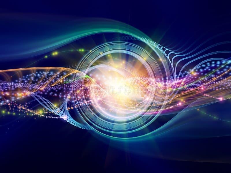 抽象正弦波 向量例证
