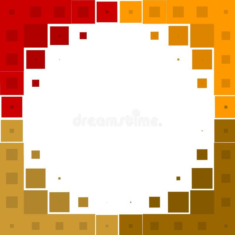 抽象正方形构造瓦片 库存例证