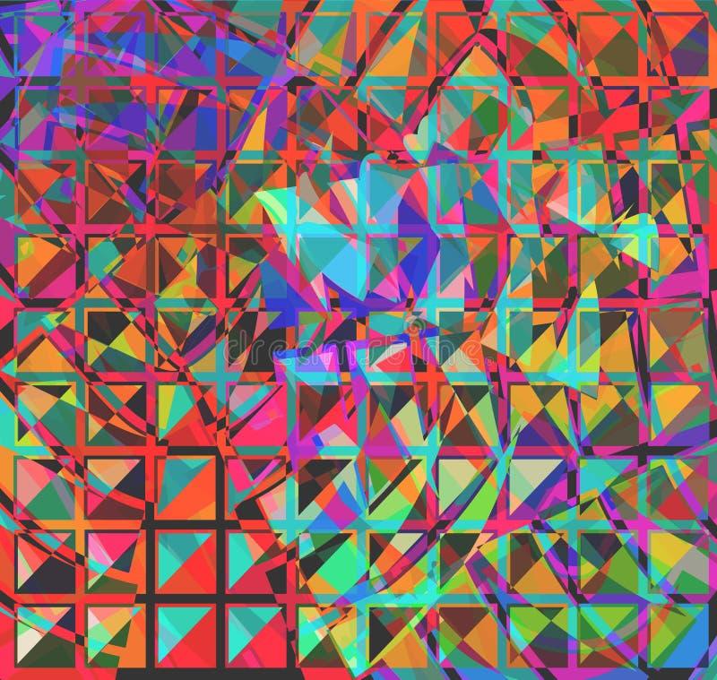 抽象正方形 皇族释放例证