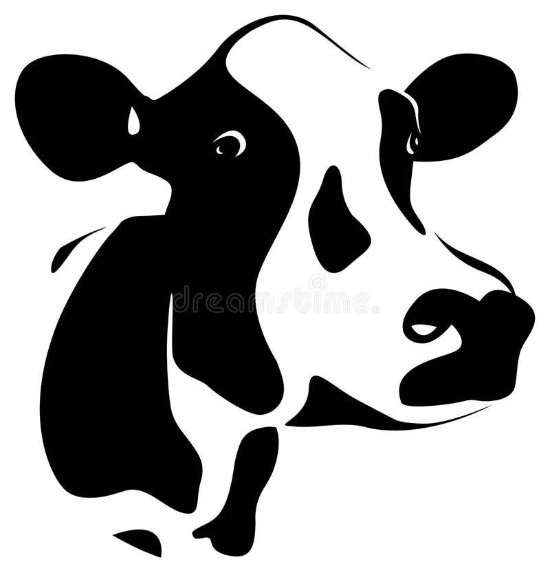 抽象母牛 皇族释放例证