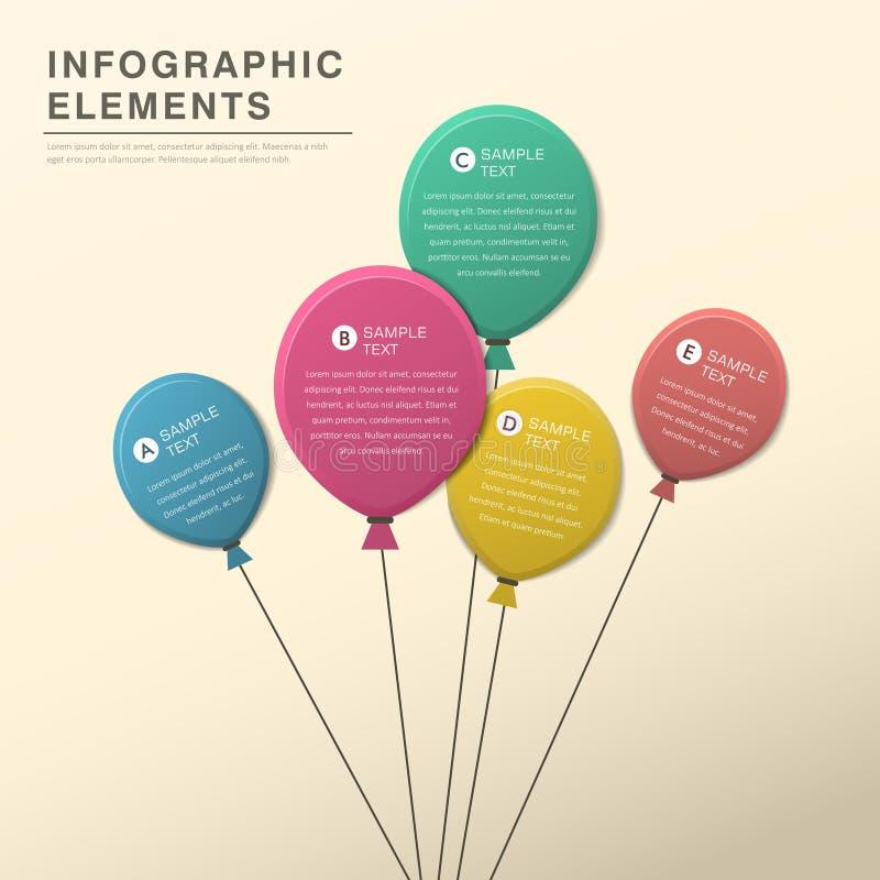 抽象气球infographics 皇族释放例证