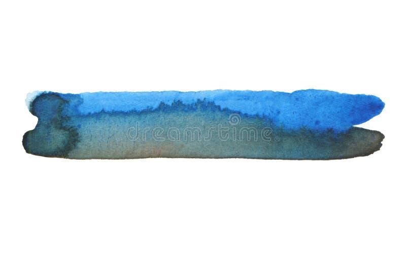 抽象水彩与丙烯酸线刷笔划污画 库存图片
