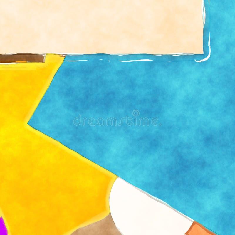 抽象水彩绘画背景 库存例证