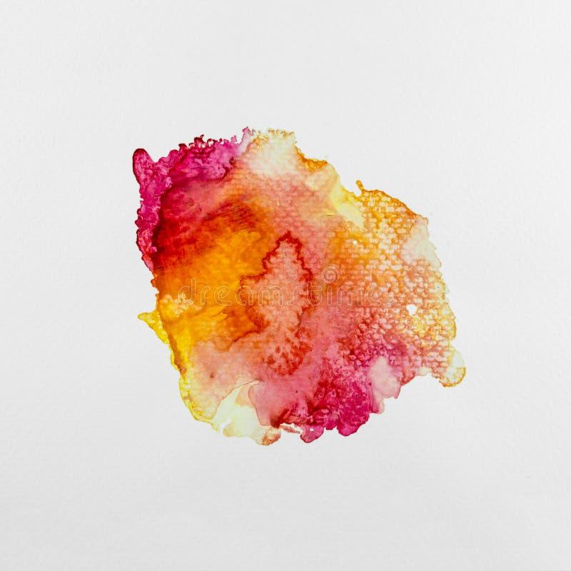 抽象水彩艺术手绘的纹理 飞溅在本文的五颜六色的水彩 库存例证