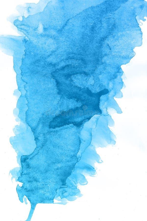 抽象水彩蓝色刷子背景,光栅例证汽车 皇族释放例证