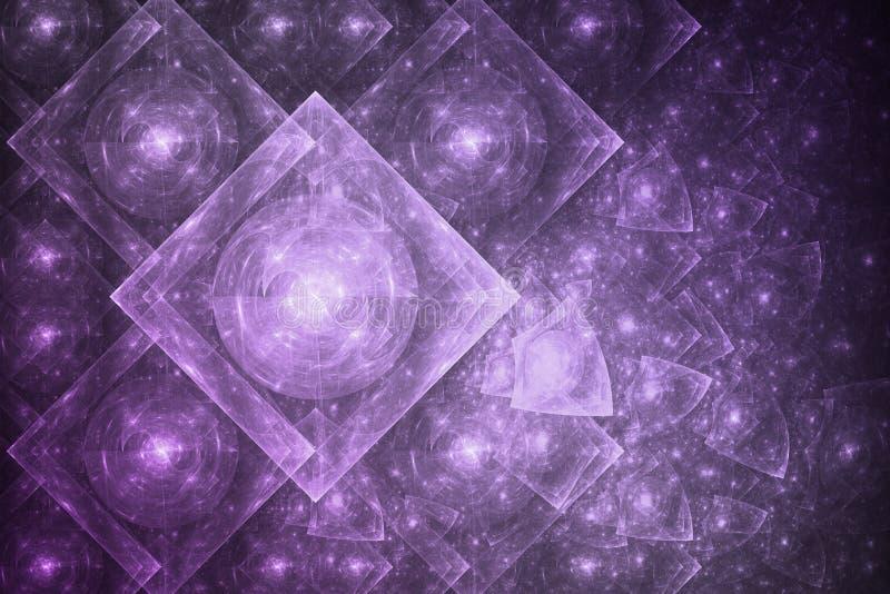 抽象水晶形成 库存例证