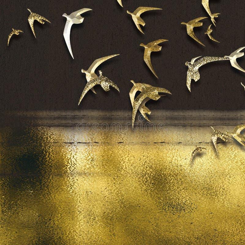 抽象水晶瓷装饰绘的系列 库存例证