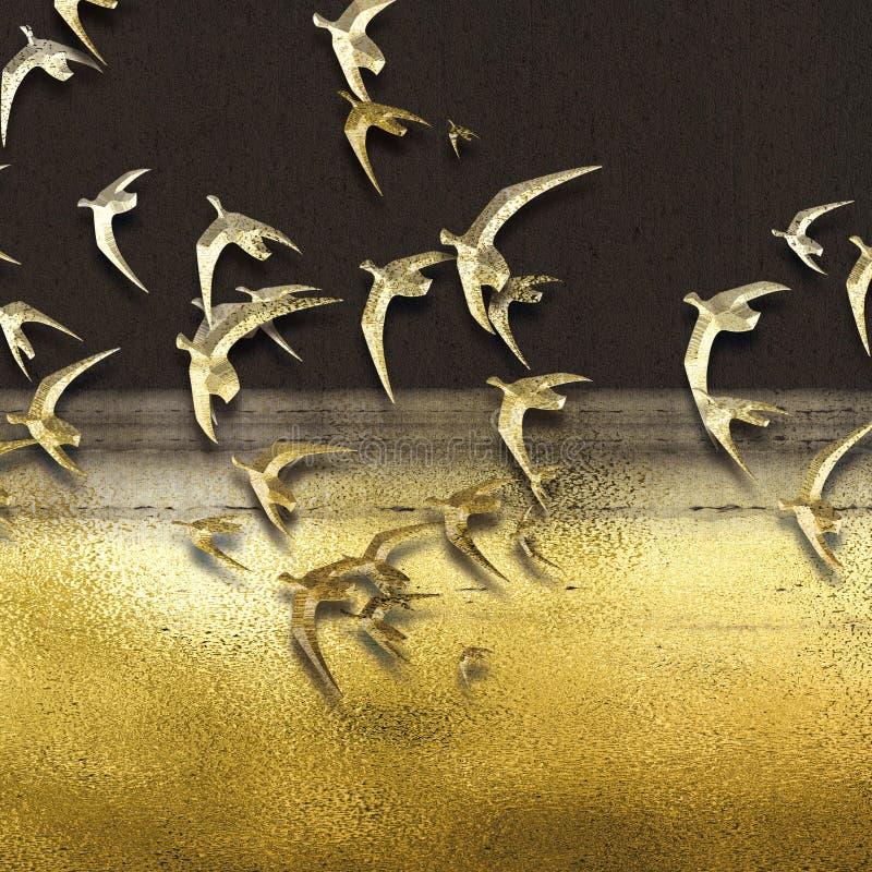 抽象水晶瓷装饰绘的系列 向量例证