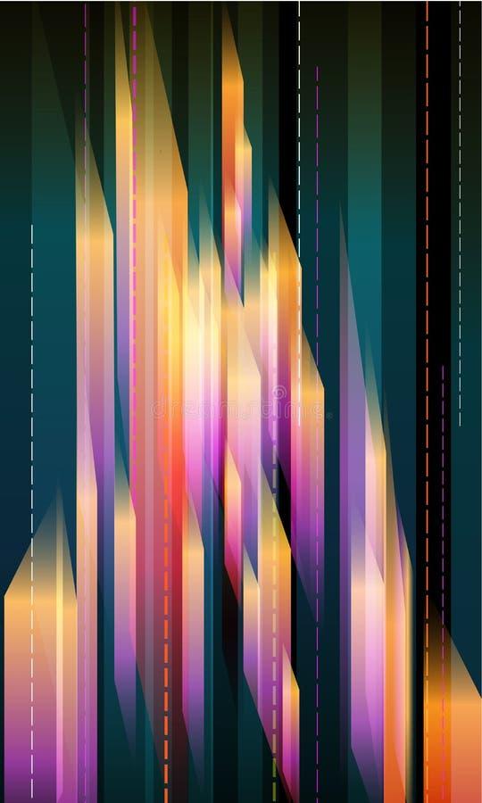 抽象水晶 库存例证