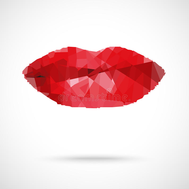 抽象污点形成的美丽的妇女的嘴唇 皇族释放例证
