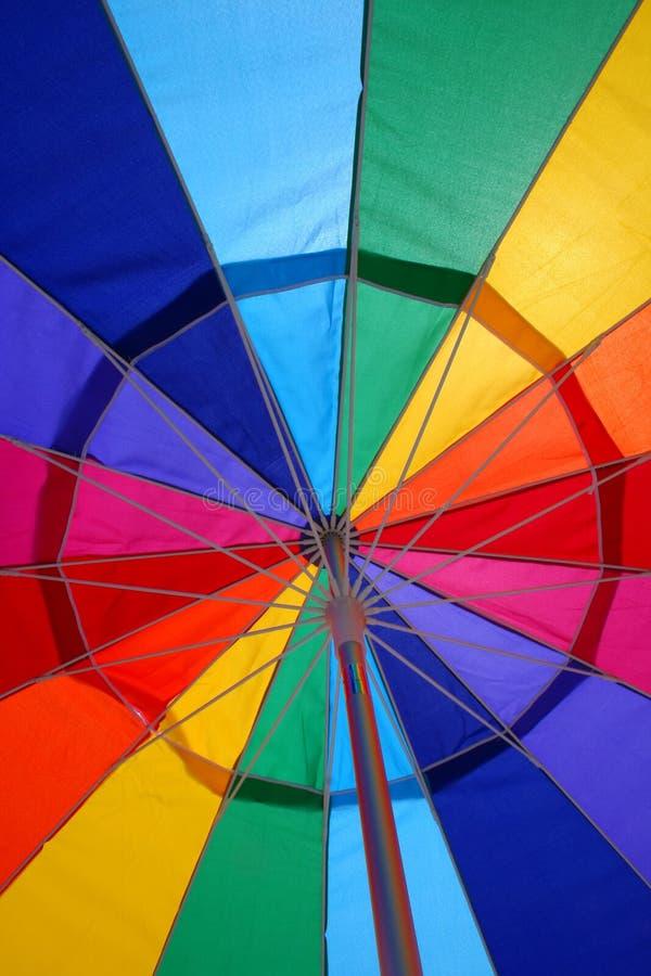 抽象沙滩伞 库存照片