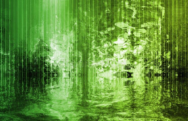 抽象河流技术 向量例证