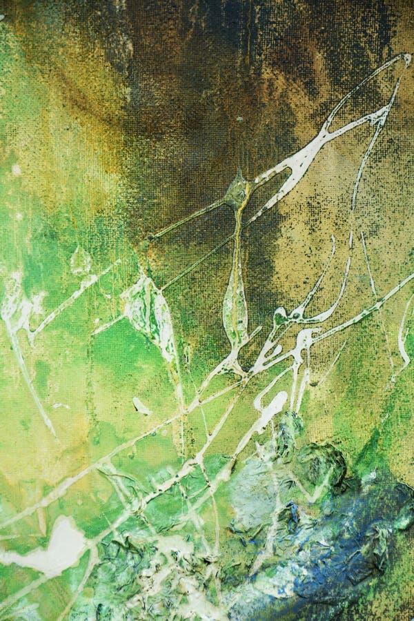 抽象油漆蓝绿色褐色白色背景 免版税库存图片