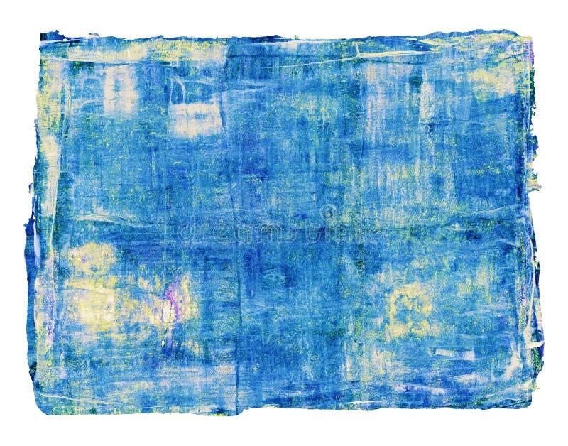抽象油画在白色背景被隔绝 免版税库存图片