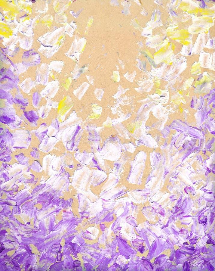 抽象油画 背景蓝天 向量例证