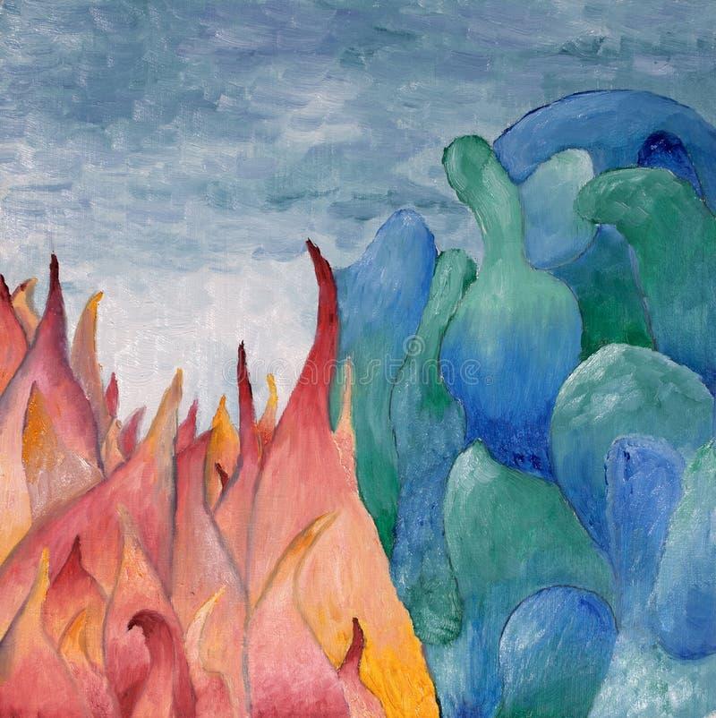 抽象油画 皇族释放例证